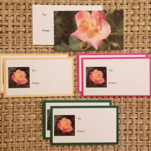 Roses gift tags- Harris Garden Cards
